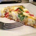 Sausage Pepper Onion Frittata